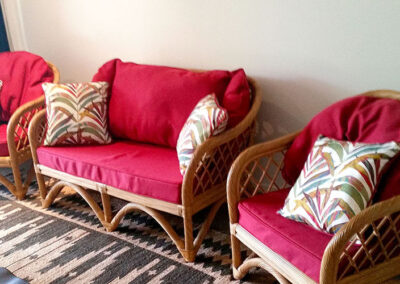 Cane Chair Seat & Back Cushion Covers